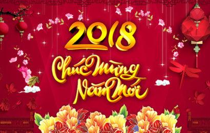 Bộ cover, ảnh bìa facebook mừng tết nguyên đán 2018 mậu tuất đẹp