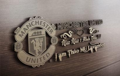 Share psd mockup mãi mãi 1 tình yêu Manchester United gỗ đẹp
