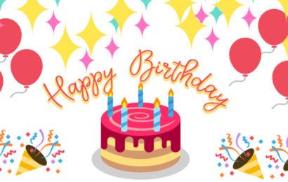 Bộ thiệp chúc mừng sinh nhật động lung linh sắc màu