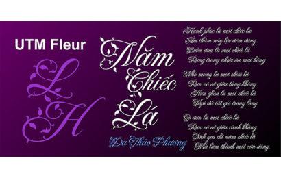 Download font chữ mầm lá UTM Fleur việt hóa miễn phí