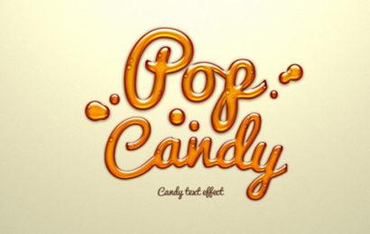 Chia sẻ file psd hiệu ứng chữ candy text effect đẹp lung linh