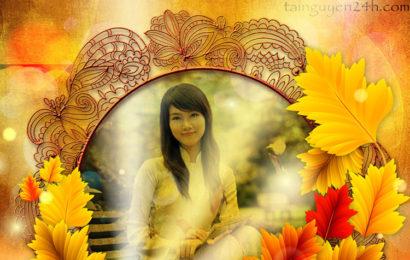 Share file psd khung ảnh mùa thu ấn tượng cho bức hình của bạn
