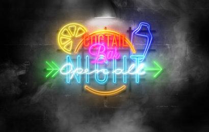 Chia sẻ psd mockup hiệu ứng chữ đèn Neon lung linh sắc màu