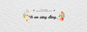 Tuyển tập ảnh bìa chúc mừng ngày phụ nữ Việt Nam 20/10 đẹp số 3