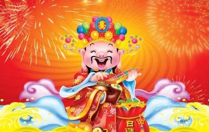 Chia sẻ file psd thiết kế hình nền thần tài đón chào năm mới đẹp