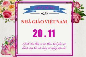 Psd bức thiệp chúc mừng và tri ân ngày nhà giáo Việt Nam 20/11