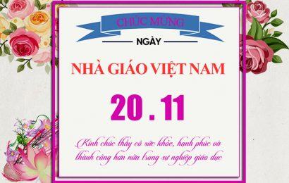 Chia sẻ file psd bức thiệp chúc mừng và tri ân ngày nhà giáo Việt Nam 20/11