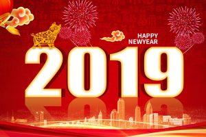 psd thiết kế hình nền lợn vàng chúc tết và năm mới 2019