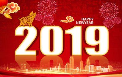 Chia sẻ file psd thiết kế thiệp, hình nền lợn vàng chúc tết và năm mới 2019