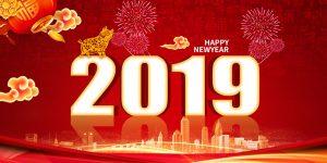 psd thiết kế thiệp lợn vàng chúc tết và năm mới 2019