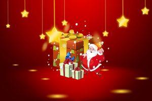 hình nền ông già Noel mừng giáng sinh đẹp lung linh