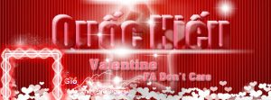 """File psd ảnh bìa tình yêu """"Valentine FA Don't Care"""" cho facebook số 2"""