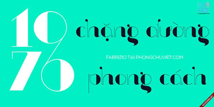 Hình ảnh demo font chữ Magazine Serif FS Fabrizio Việt hóa số 1